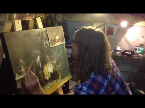 Painting a forgery of the Doctor by Luke Fildes
