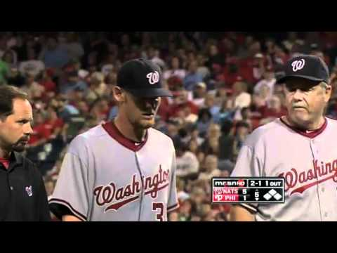 Strasburg exits with injury