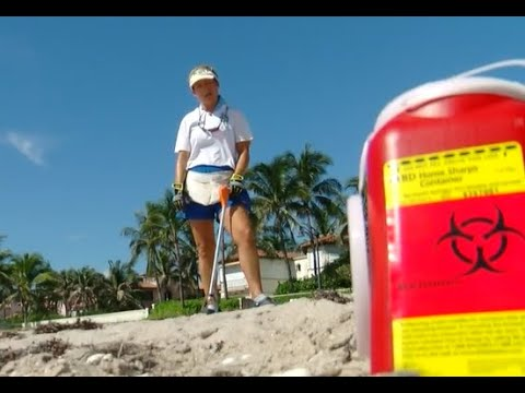 Medical waste washes ashore