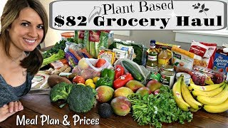 $82 PLANT BASED GROCERY HAUL :: HEALTHY VEGAN GROCERY HAUL WITH MEAL PLAN & PRICES :: WINCO