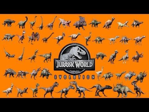 ALL 48 DINOSAURS UNLOCKED!!! (INDORAPTOR) (JURASSIC WORLD EVOLUTION)