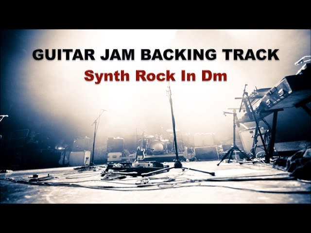 Guitar Jam Backing Track - Synth Rock in Dm (90 bpm)