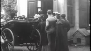 Отъезд Льва Толстого их Хамовников, Москва, 1908 год в Ясную Поляну. Редкие кадры кинохроники.