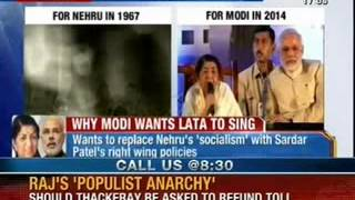 Watch Lata Mangeshkar singing 'Aye mere watan ke logon' for Narendra Modi