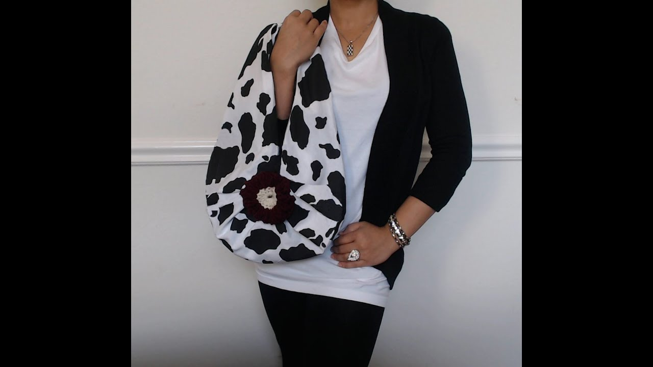 diy fashion no sew drop bag in 2 minutes just 1 yard of fabric youtube