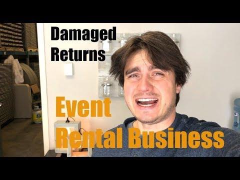 Damaged Returns - Growing Event Rental Business