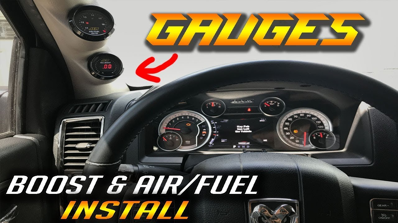 Installing Boost Air Fuel Gauges On The Ram Hellram Build Ep1 Youtube