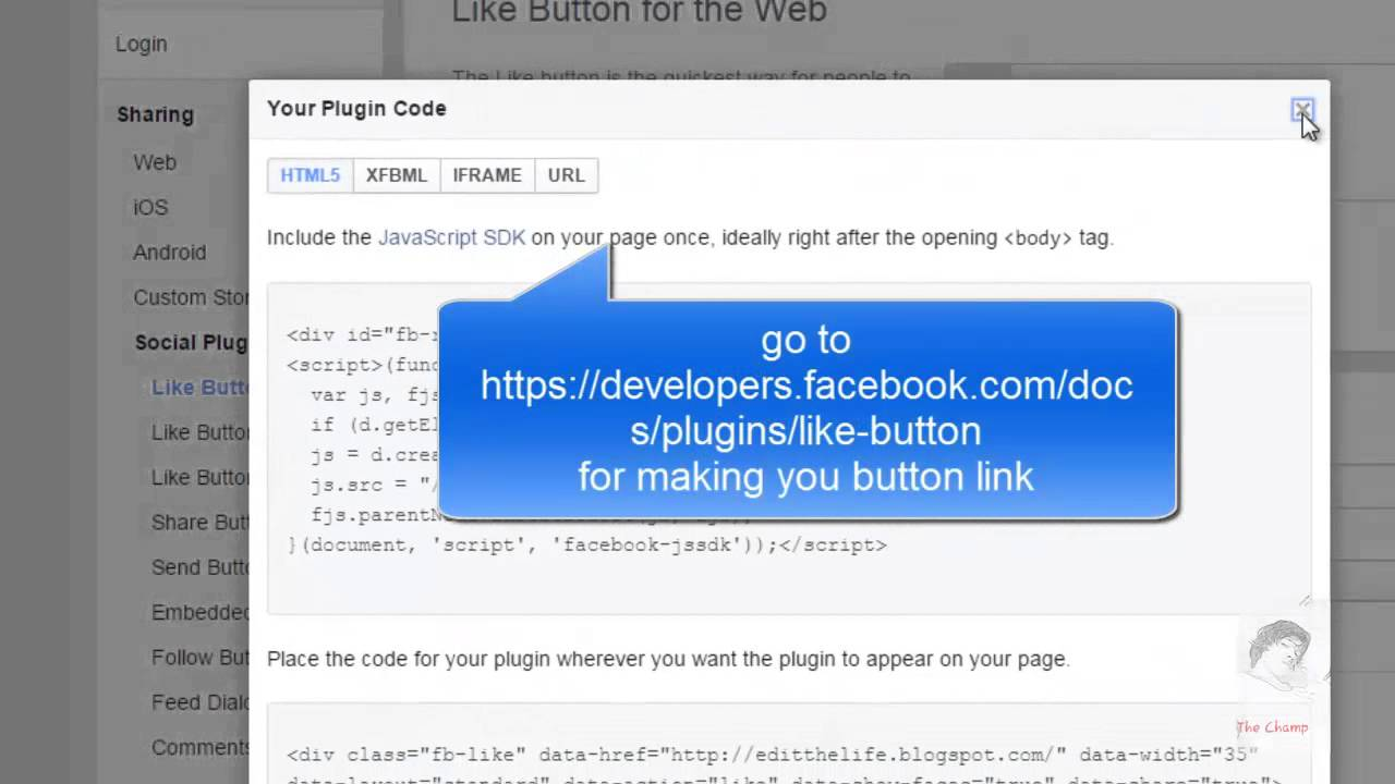 how to add facebook like button to blogger 2015