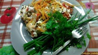 Хек с овощами, запеченный в духовке Блюда из рыбы
