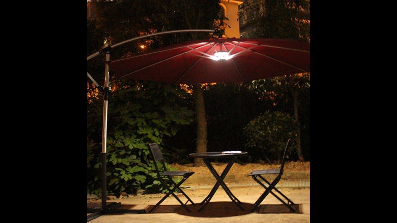Outdoor Patio Umbrella Light Review Youtube