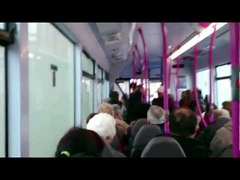 Glasgow ned goes nuts on bus - tries to fight pregnant woman