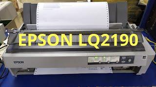 Epson LQ 2190 Dot matrix Printer Head Cleaning