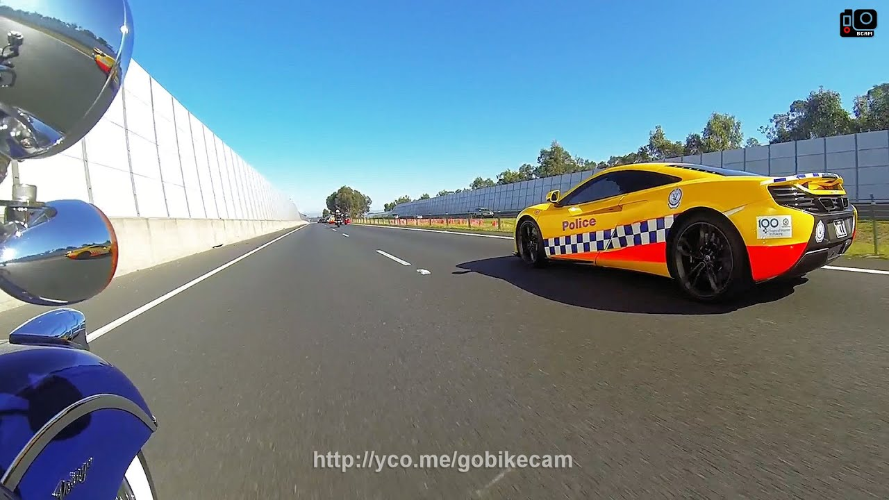 $450,000 McLaren NSW Police car on the road
