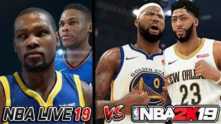 NBA 2K19 vs NBA LIVE 19! MUST SEE Before Buying