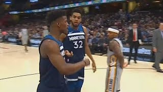 Jimmy Butler and Karl Anthony Towns Exchange Words and Argue! Cavaliers vs Timberwolves