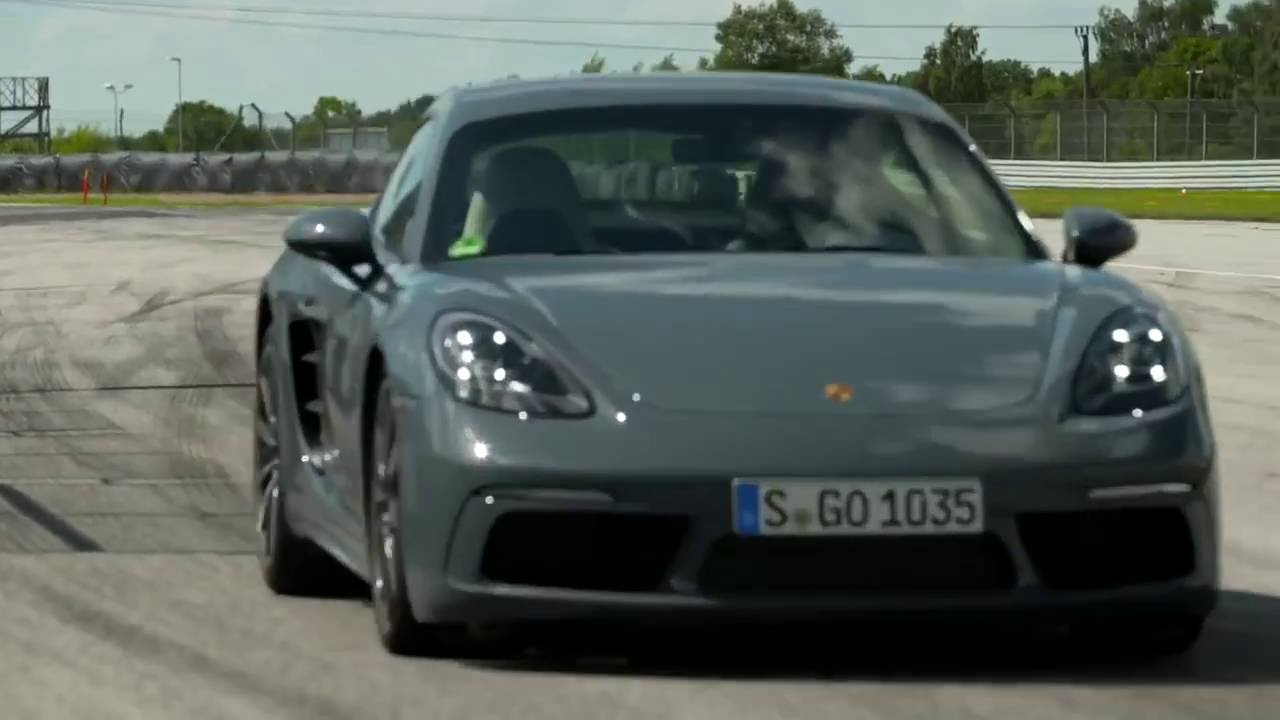 2017 Porsche 718 Cayman Graphite Blue Metallic Full