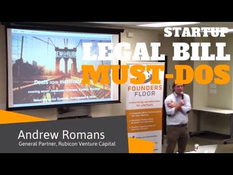 Startup Legal Bill Must-Dos