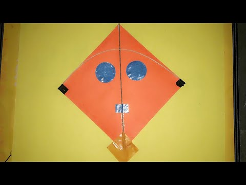 Kite Making In Colour Paper Youtube