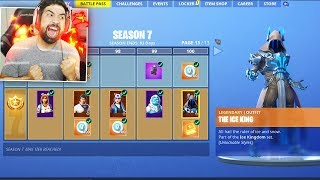 Fortnite SEASON 7 ALL BATTLE PASS REWARDS UNLOCKED (Tier 100)