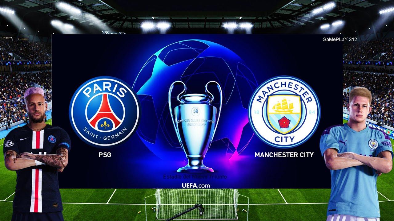 PES 2020 - PSG vs Manchester City - UEFA Champions League ...