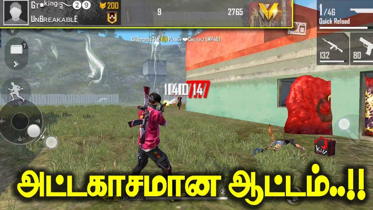 Free Fire Attacking Clash Squad Ranked Gameplay Tamil Tips Tricks Tamil Youtube