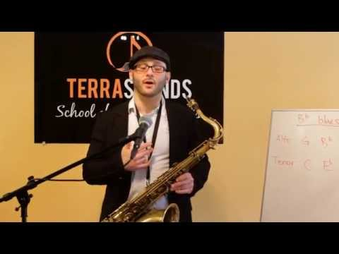 Introduction to the Blues Scale Saxophone Lesson - - Terra Sounds School of Music & Arts