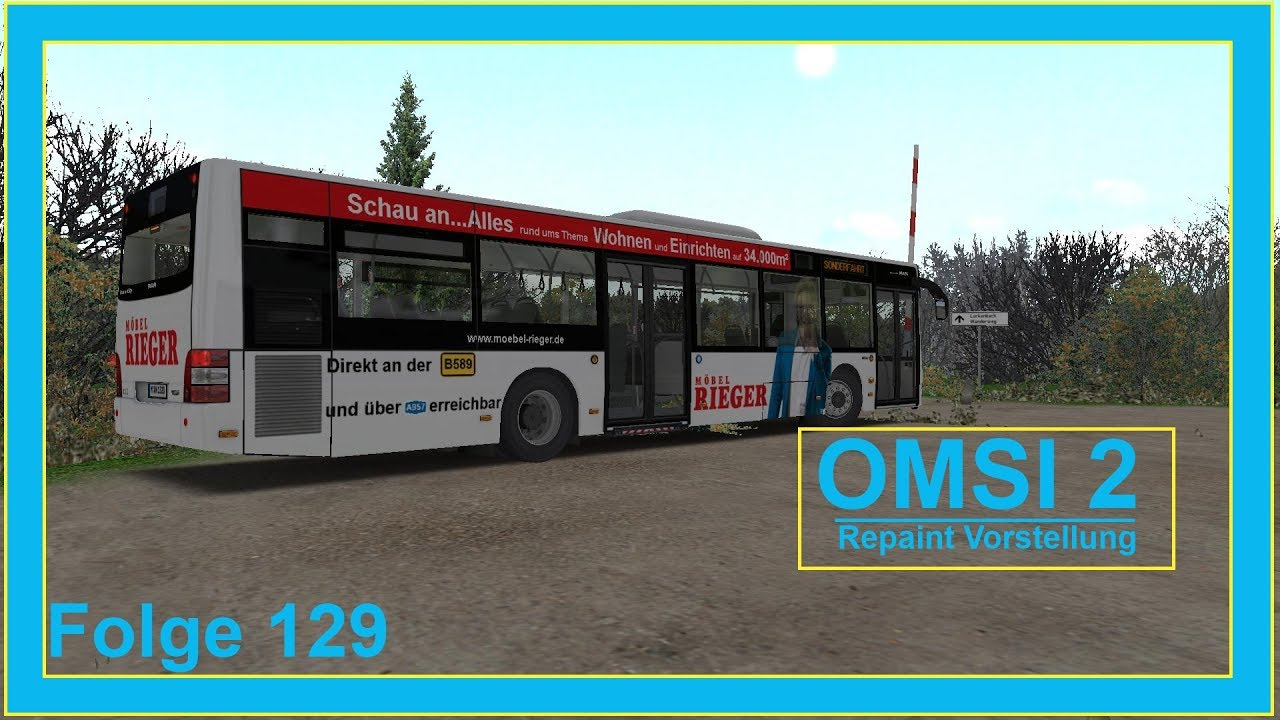 Omsi 2 Repaint Vorstellung Mobel Rieger Werbung Folge 129 Youtube