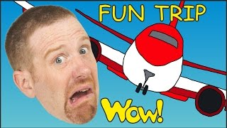 Kids Family Fun Trip with Steve and Maggie | Short English Stories for Children from Wow English TV