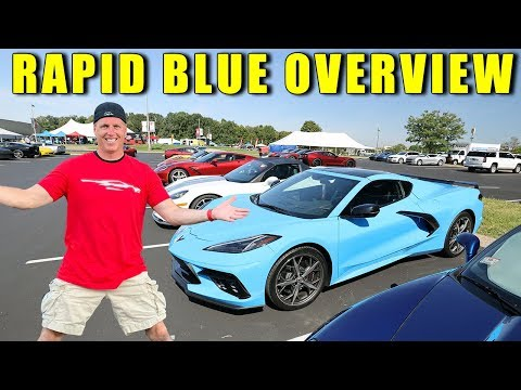 2020 Corvette Rapid Blue Color Up Close View For The 2020 Corvette Stingray C8