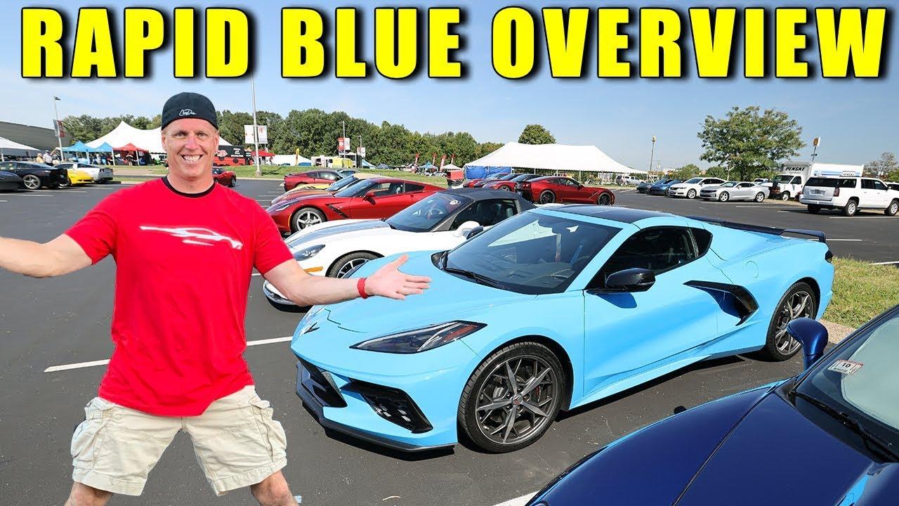 2020 Corvette Rapid Blue Color Up Close View For The 2020 Corvette
