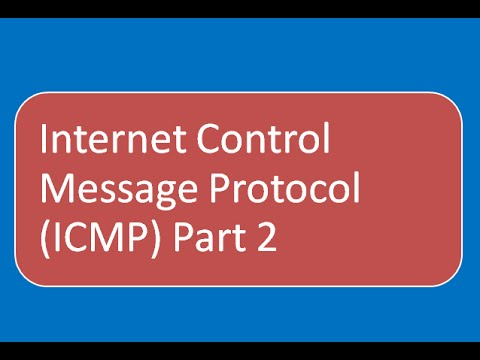 Internet Control Message Protocol (ICMP) : Error Message (Part 2)