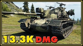 M48A5 Patton - 13,3K Damage - World of Tanks Gameplay