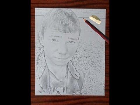Как сделать фото нарисованное под карандашь .