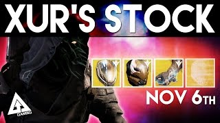 Destiny Xur November 6th - Xur's Location & Stat Roll Suggestions | Destiny The Taken King Exotics