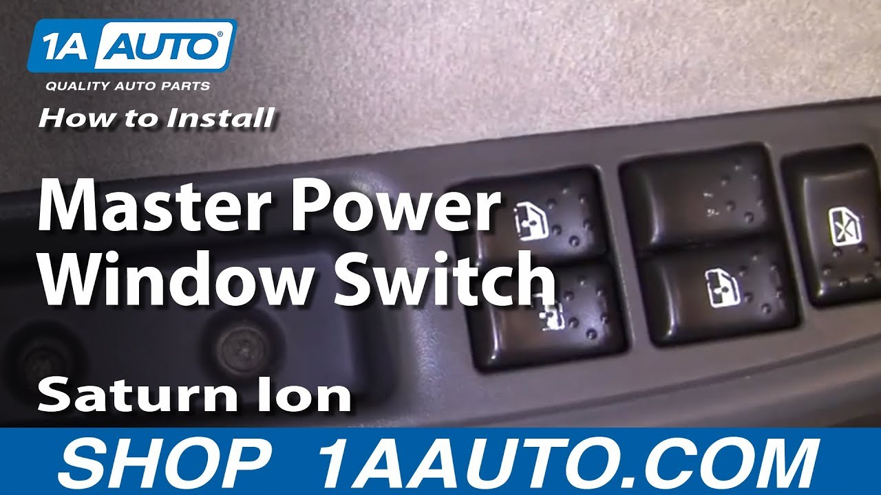 How To Install Replace Master Power Window Switch Saturn