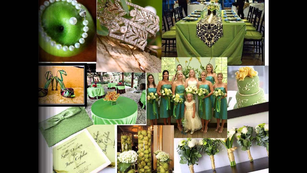 Green Themed Wedding Decorations Ideas