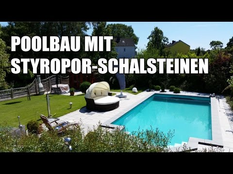 poolbau mit styropor schalsteinen kompletter prozess im video youtube. Black Bedroom Furniture Sets. Home Design Ideas