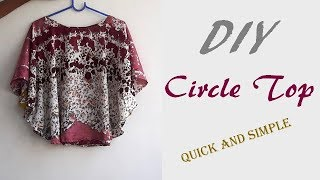 DIY Circle Top Cutting And Stitching Full Tutorial