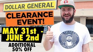 NEW Dollar General Clearance Event - May 31 through June 2