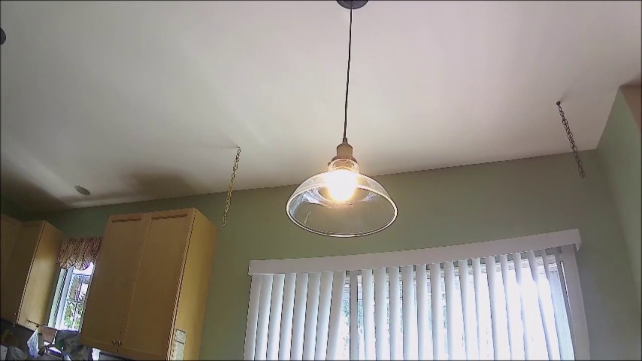 Glass Pendant Light Fixture Installation And Review (sold
