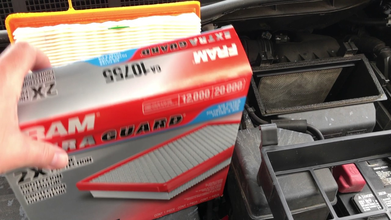 How to change air filter toyota sienna