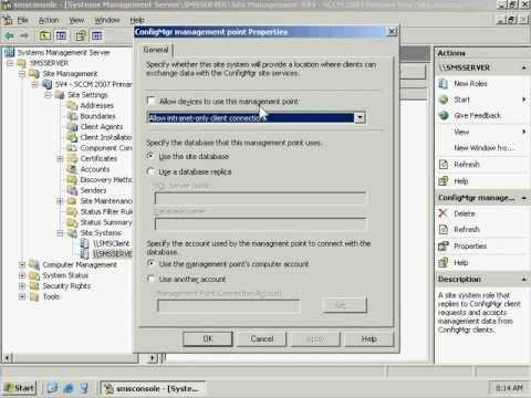 Verifying Management Point in SCCM 2007