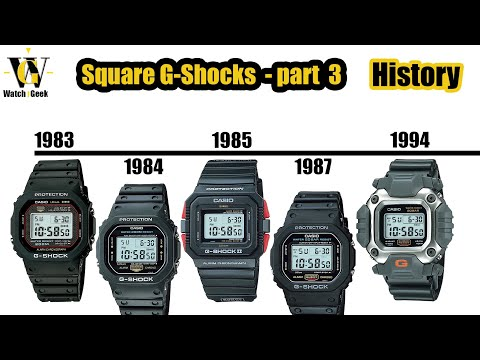 G-Shock history - 1984 - 1995 - squares