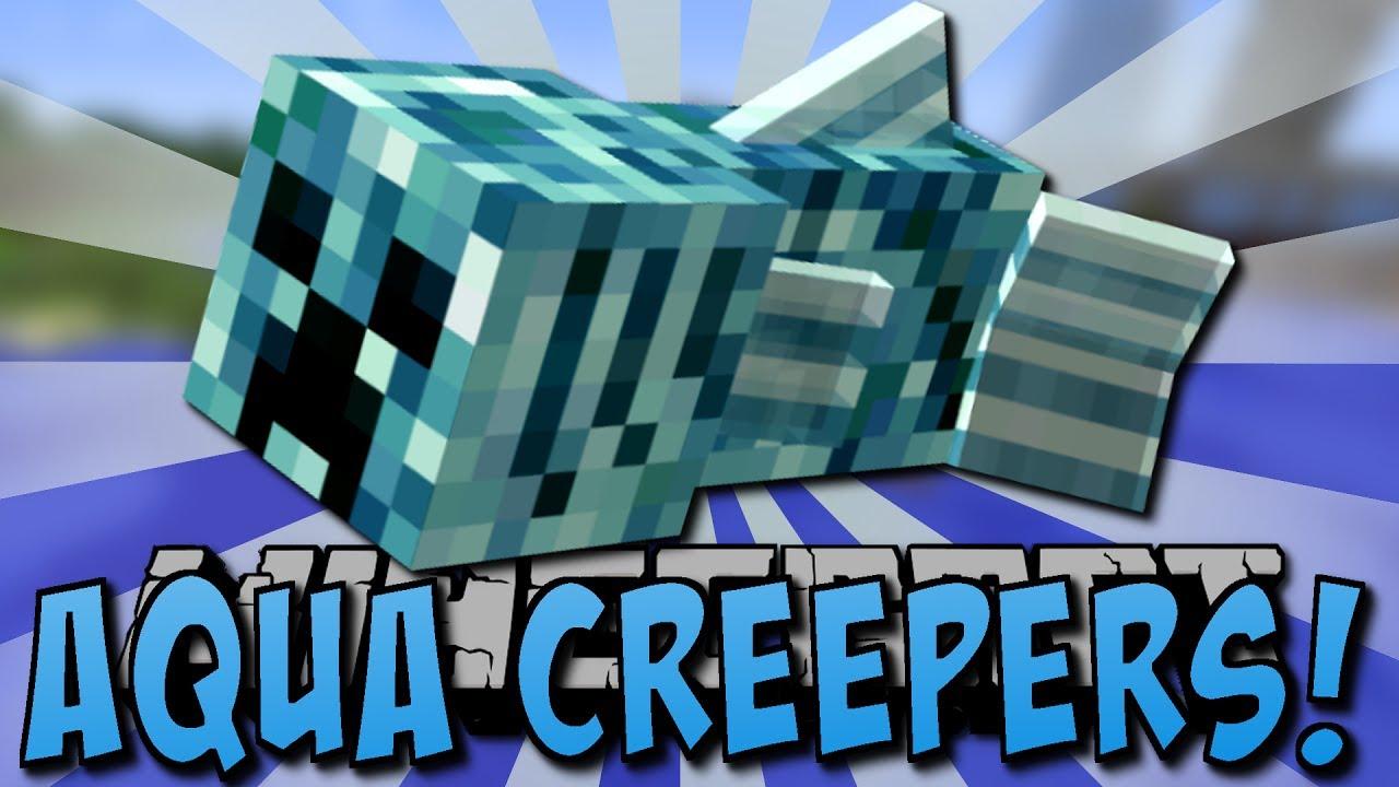 DER CREEPER-FISCH!! (Aqua Creepers Mod) - YouTube