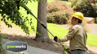 Greenworks 24v Long Reach Hedge Trimmer (22157)