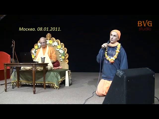 Санкиртана. Награждение Радхика Рамана после марафона Шрилы Прабхупады 2011