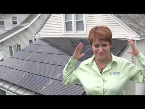 NY solar contractor shows off her own solar electric system