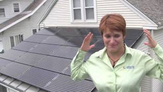 Repeat youtube video NY solar contractor shows off her own solar electric system