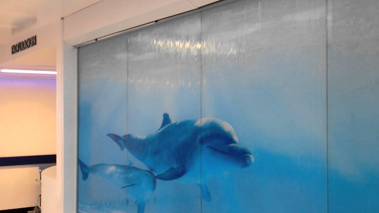 Cortina de agua decoraci n para interiores youtube - Paredes de agua para interiores ...