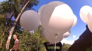 Большие метровые шары на свадьбу
